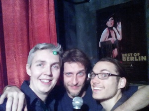 With Freshly Comedy's Dan Feist & my co compere Chris Matus